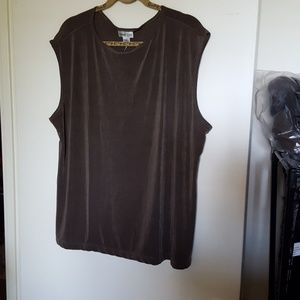 Coldwater Creek Travel Tank Top, Taupe, 3x